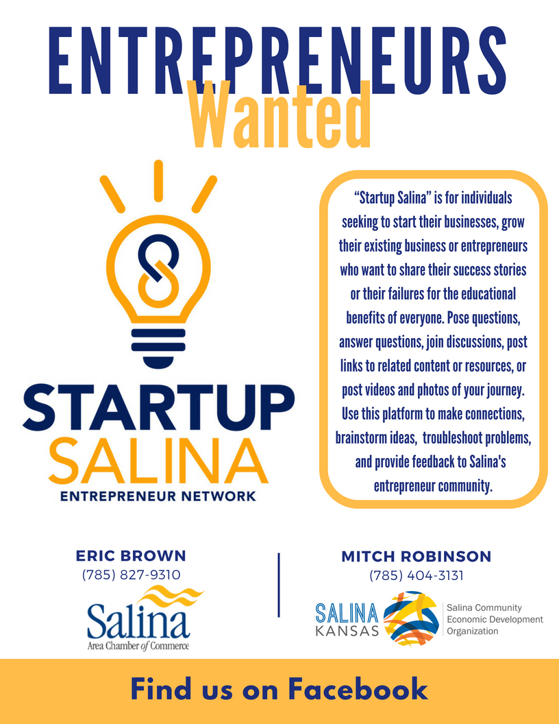 Join the Startup Salina Entrepreneur Network on Facebook